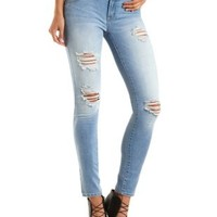 "Refuge ""Hi-Waist Super Skinny"" Destroyed Jeans"