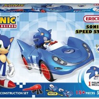 Erector Sonic The Hedgehog Sonic and Speed Star Construction Playset