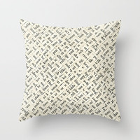 Between The Lines Throw Pillow by Oscar Lind Modin