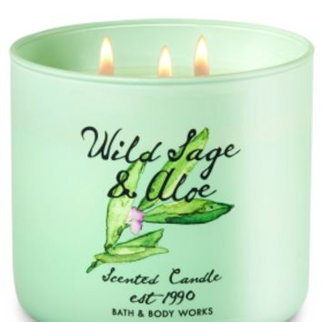 3-Wick Candle Wild Sage & Aloe