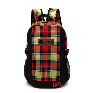 Stylish College Hot Deal Back To School Comfort On Sale Anime Bags Fashion Casual Sea Vintage Plaid Backpack [4918757636]