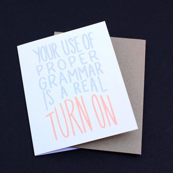 Proper Use of Grammar Greeting Card