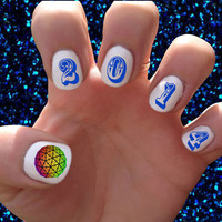 New Years // New Years Eve // Day // Holidays // Winter // 2014 // Nail Decals Transfer Nail Stickers //