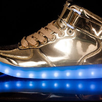 High Top Gold LED Shoes