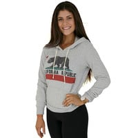 California Republic Vintage California Flag - Women's Hooded Pullover  - Eco Oatmeal
