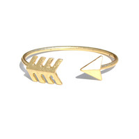 Gold Arrow Cuff | Jeweliq Fashion Bracelets