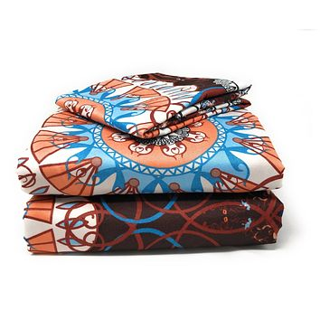 Tache 2-3 PC Burgundy Palace Fancy Paisley Patterned Fitted Sheet Set (2810) (TA2810FIT-CK)