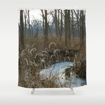 Shower Curtain - Until The Fawn - Nature Decor - Rustic Decor - Woodland Decor - Farmhouse Chic - Cabin Decor - Cottage Chic