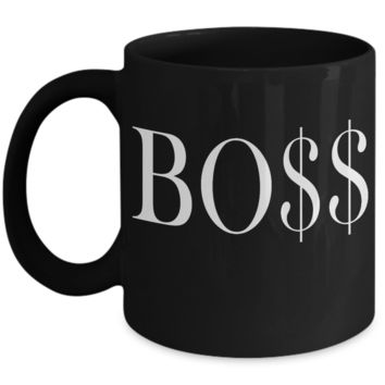 Boss Day Gift BO$$ Coffee Mug