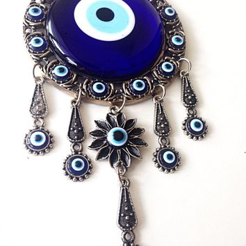 Evil eye wall décor - Turkish evil eye - evil eye wall hanging - evil eye décor - wall decal - large evil eye - nazar boncuk