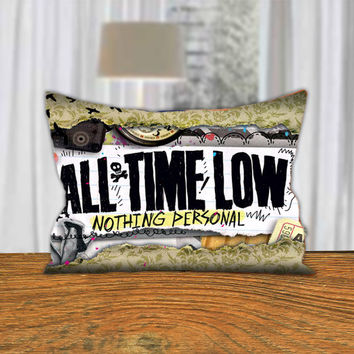 "PillowQ - All Time Low Nothing Personal - Design for Pillow Cover 18""x18"" and 30""x20"" - Front Side Print or Full Side Print"