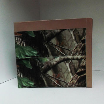 Hunting Camo Duct Tape Wallet  - unique, gift for kids, boys, men, boyfriend, camouflage, snake skin