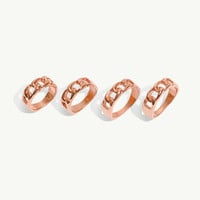 Rose Gold Chain Midi Rings