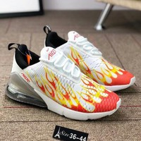 Nike Air Max 270 Trending Women Men Flame Air Cushion Sport Sneakers Jogging Shoes I-AA-SDDSL-KHZHXMKH