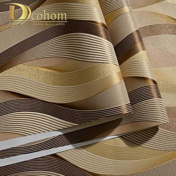 Fashion PVC Black White Silver Striped Wallpaper 3D Modern Living room Waterproof Vinyl Textured Stripe Wall paper Rolls