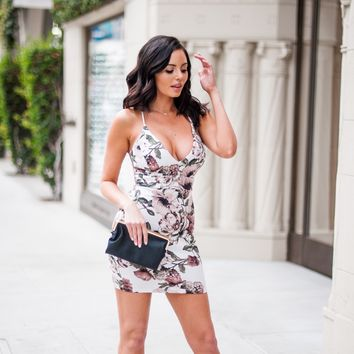 Rhiannon Floral Lace Bodycon Dress