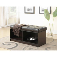 Walmart: Convenience Concepts Designs4Comfort Broadmoor Entryway Faux Leather Bench Storage Ottoman, Multiple Colors