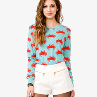 Crab Print Sweater