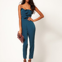 ASOS Bandeau Jumpsuit With Frill Front