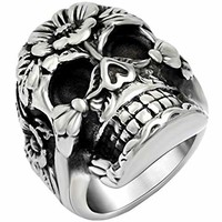 Keith Richards Band Skull Ring Punk Gothic Cool Small Cute Skull Engagement Rings