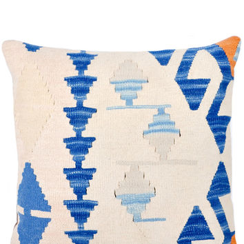 "20"" Kilim Pillow, River Ritual"