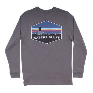 Midnight Tower Long Sleeve Tee in Pepper by Waters Bluff