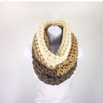 SALE Oversized Chunky Cowl, Large Chunky Cowl Hood, Chunky Snood Scarf, Chunky Ombre Cowl, Color Block
