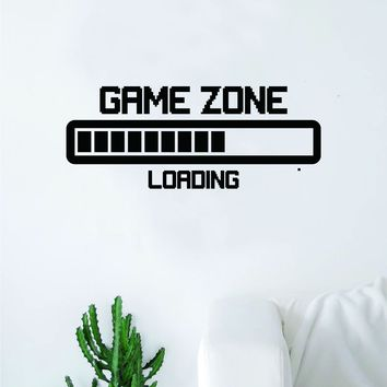 Game Zone Loading Quote Wall Decal Sticker Bedroom Room Art Vinyl Home Decor Inspirational Teen Video Gaming Gamer