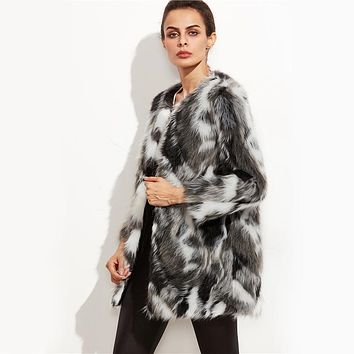Faux Fur Elegant Coat
