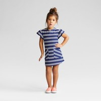 Toddler Girls' Stripe A Line Dress - Cat & Jack™ - Blue