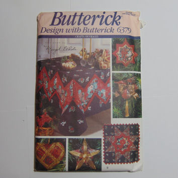 Butterick Design With Butterick Pattern 6379 Easy and Elegant Christmas 1992