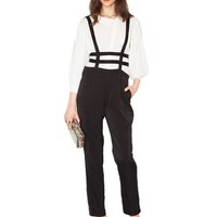 Cage black pants - suspender pants - party jumpsuit - $50
