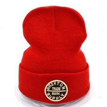 ICIKUH3 Brixton Women Men Embroidery Beanies Warm Knit Hat Cap