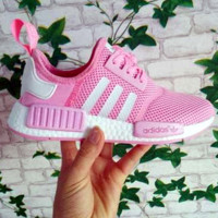 """Adidas"" Women Men Trending NMD Running Sports Shoes Pink"