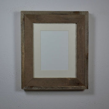 Shallow box style barnwood frame for 8x10 or 5x7 photos