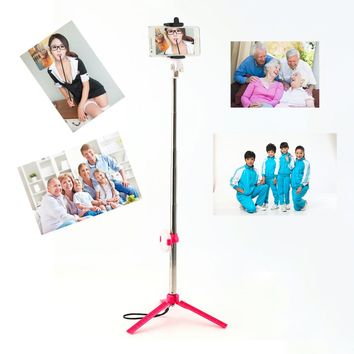 High Quality Bluetooth Cell Phone Selfie Stick Monopod Tripod For Iphone For Samsung