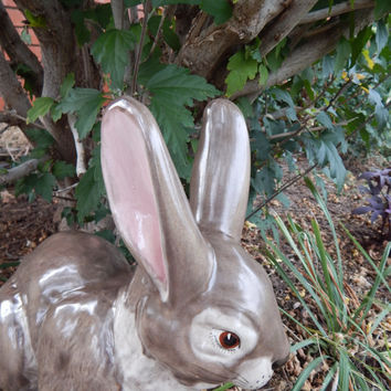 Large Ceramic Rabbit Statue