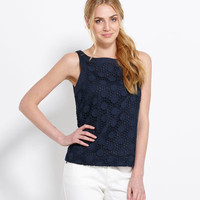 Shop Womens Tops: Ellie Eyelet Top for Summer - Vineyard Vines