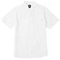 Stussy: Confetti Button Down Shirt - White