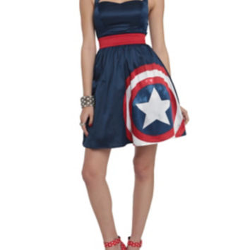 Marvel By Her Universe Captain America Halter Dress Pre-Order