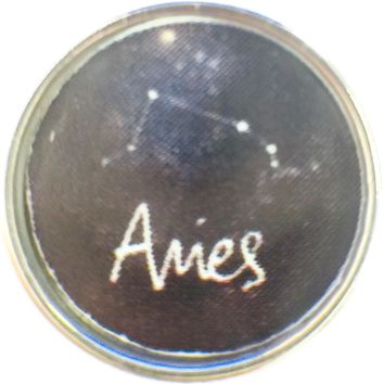 Aries Zodiac Star Constellation Cosmo Horoscope Symbol 18MM - 20MM Charm for Snap Jewelry New Item