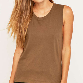 BDG Tan Acid Muscle Tank Top - Urban Outfitters