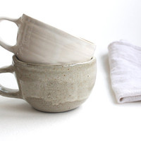 White Coffee Mug in Stoneware
