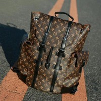 Louis Vuitton X Supreme Trending Unisex Leather Bookbag Shoulder Bag Handbag Backpack I