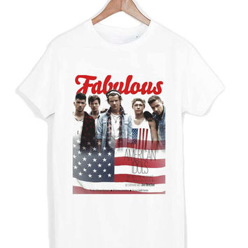 One Direction 1D Fab UK Boy band tshirt for merry christmas and helloween
