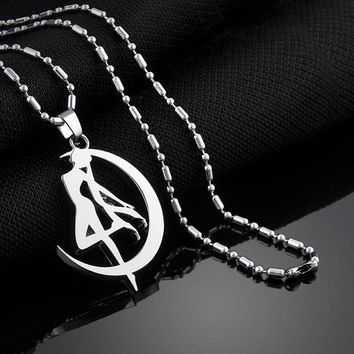 Moon Necklaces Crystal Pendant  Anime Peripheral Sailor  Vintage Accessories