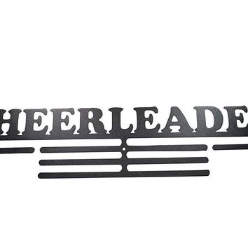 OFG Medal Hanger for Displaying and Hanging Ribbons on a Rack Out of Black Powder Coat Steel (Cheerleader, Black)