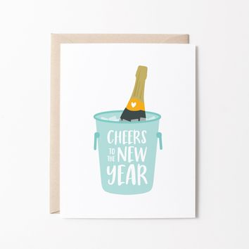 Cheers to the New Year greeting card