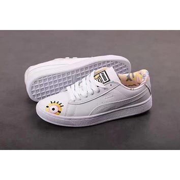 PUMA X MINIONS SUEDE Men Shoes Women Casual shoes White