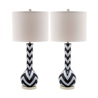 Safavieh Furniture Safavieh Furniture LIT4092 Chevron Long Neck Lamp (Set of 2) Table Lamps